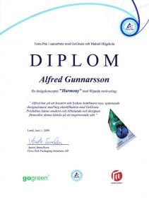Diplom från TetraPak och GoGreen - Skriv ut ett eget exemplar!