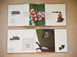 Två uppslag ur katalogen